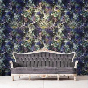 Santorus Wallpaper Madame de La Soir Wallpaper Azure