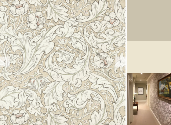 Moodboard for William Morris Bachelors Button Wallpaper Pattern